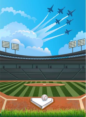 baseball field: Baseball stadium