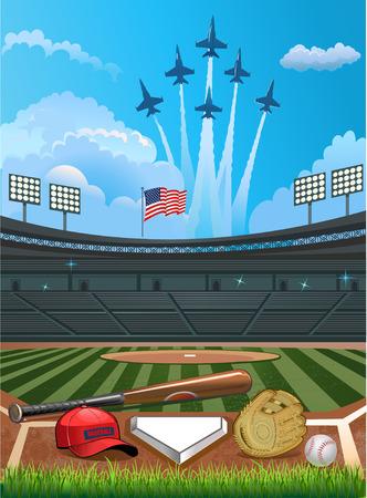 baseball field: Baseball