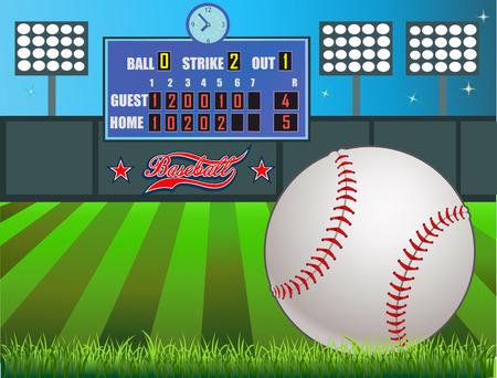 pitchers mound: Baseball score