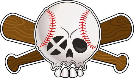 145 skull baseball ball stock illustrations cliparts and royalty rh 123rf com Baseball Bat Clip Art Baseball Bat and Ball Clip Art