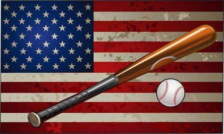 allstar: Baseball on American Flag