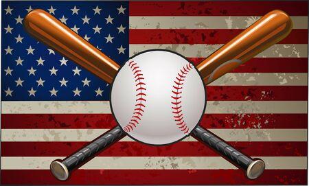 major league: Baseball on American Flag