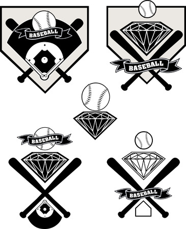 baseball diamond: Baseball label diamond