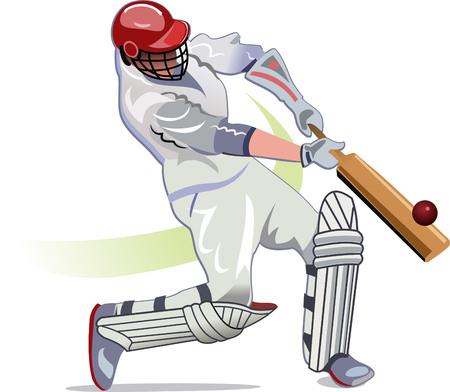 backlight: Cricket player batsman