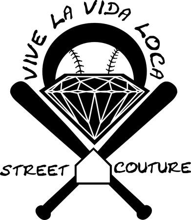 baseball diamond: Baseball label diamond