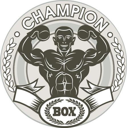 shirtless: Box champion