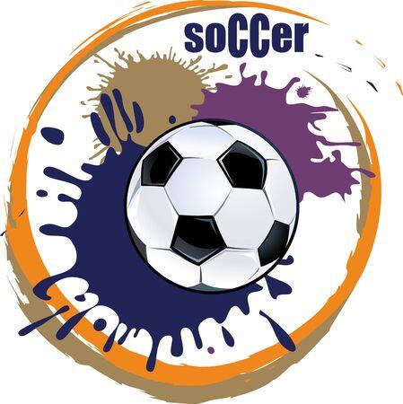 blot: Soccer ball and paint blot