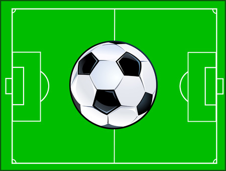 soccer field: Soccer ball and Field