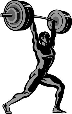 weightlifting: weightlifting Illustration