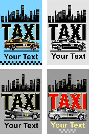 llamando: tarjeta de visita del taxi