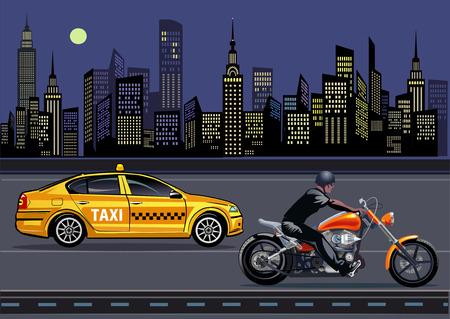 New York Taxi motorbike