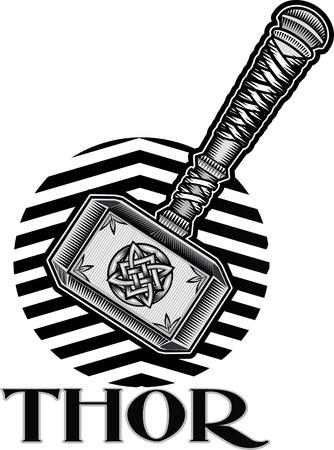 Thors Hammer  イラスト・ベクター素材