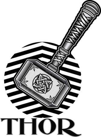 odin: Thors Hammer Illustration