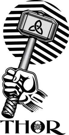 Thors hamer Vector Illustratie
