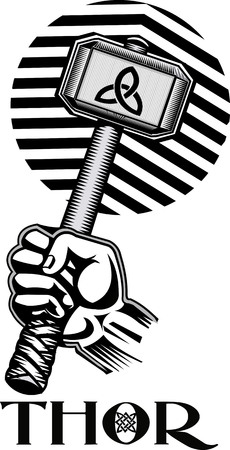 wicca: Thors Hammer Illustration