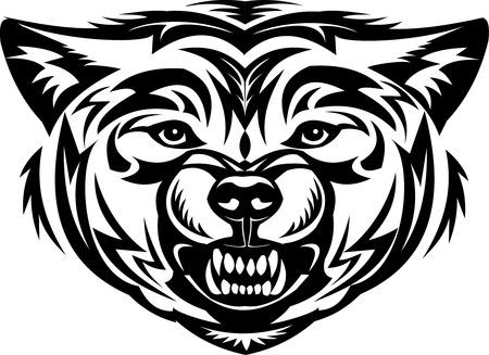 Tattoo Wolf head