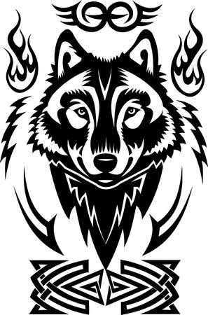 Tatuaje cabeza del lobo