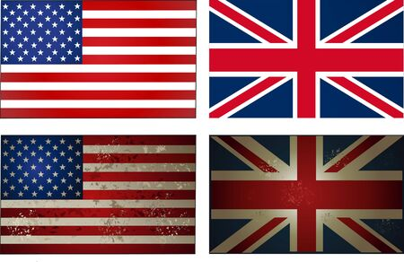old new: old new USA UK Flag