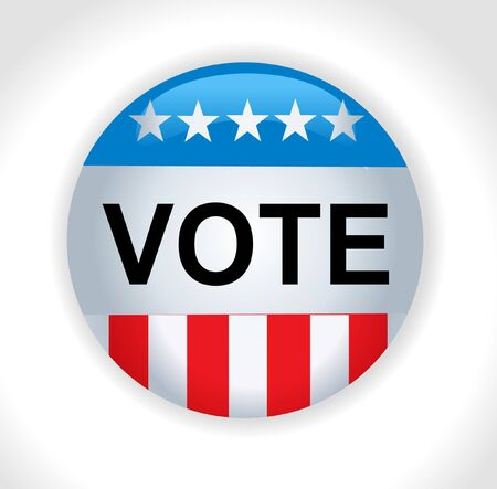 democrat party: Vector - United States Election Vote Button