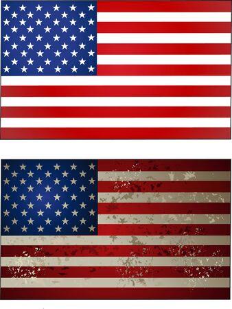 drapeau Dit United Vecteurs
