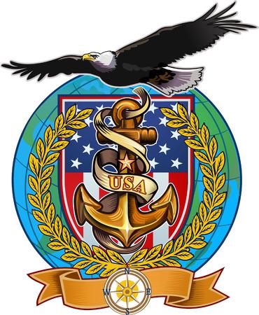 US Navy Eagle Illustration