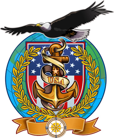 US Navy Eagle Vectores