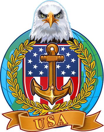 US Navy Eagle  イラスト・ベクター素材