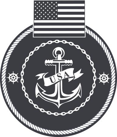 Amerikaanse marine Stock Illustratie