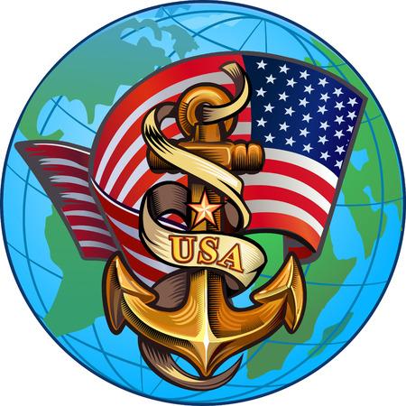 US Navy  イラスト・ベクター素材