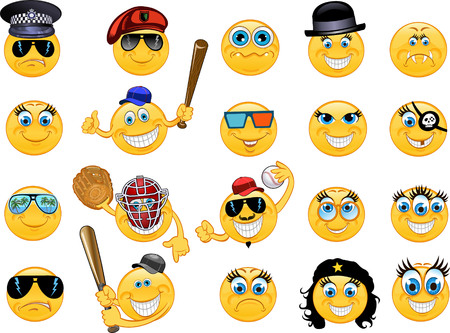 smile face: Emoticon. Vector style smile face icons Illustration