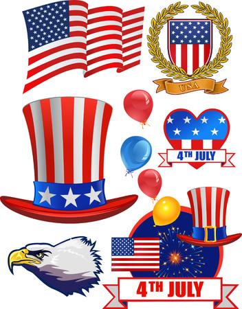 Independence Day.   Set of design elements