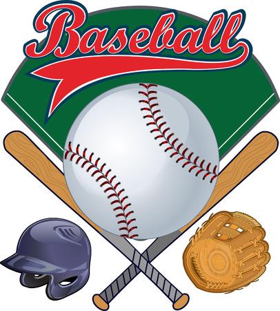 mitt: Baseball champion. Base, ball, helmet, mitt label
