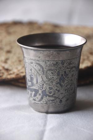 pesah: Pesah (jewish Passover holiday) with wine and matza