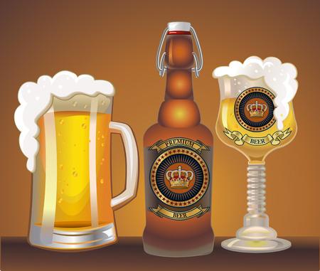 viewfinderchallenge1: Light beer mug. Vector illustration Illustration