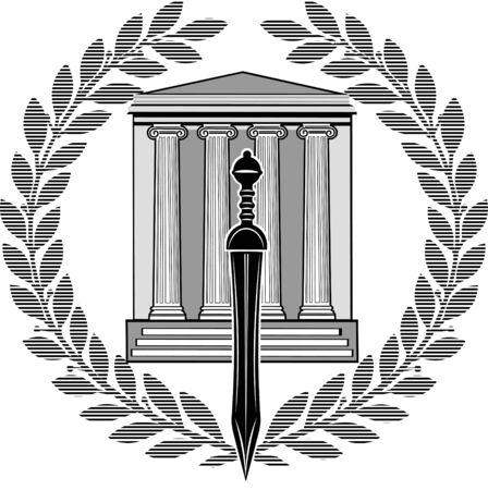 gladiatorial: Roman Gladius short sword Illustration