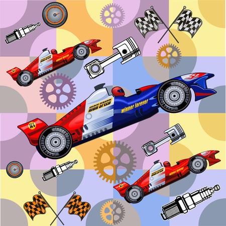 bolide: race car Illustration