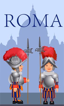 honour guard: Papal Swiss Guard in Rome