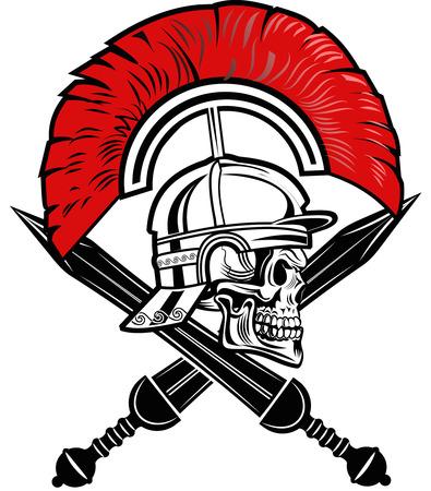 Roman helmet and short sword