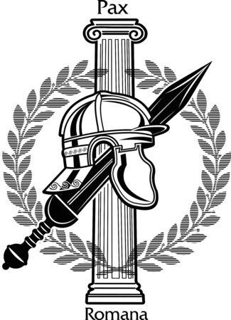 Roman Gladius short sword Illustration