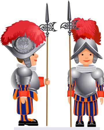 honor guard: Papal Swiss Guard in uniform