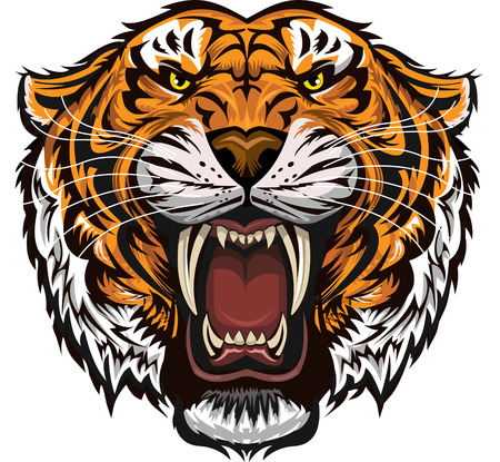 Saber-toothed tiger Stock Vector - 58946181