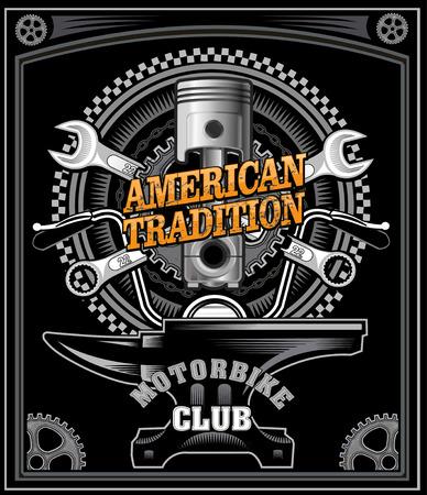 étiquette de moto vintage