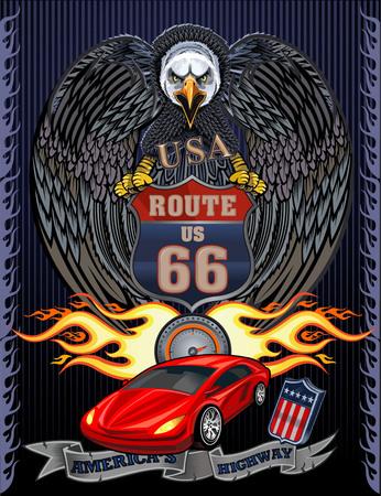 Americas Highway Illustration