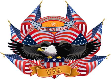 米国のフラグとアメリカン ・ イーグル