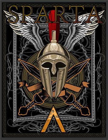 Sparta Helm mit Schwert Standard-Bild - 77976647