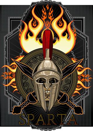 Sparta Helm mit Schwert Standard-Bild - 78020164