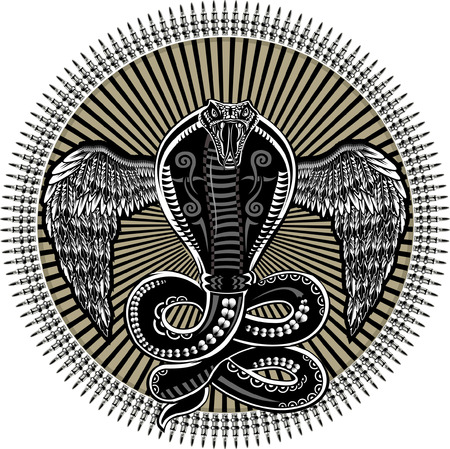 Snake with wings Ilustração
