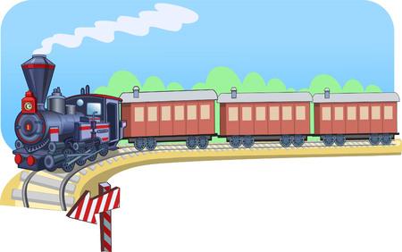 Spoor locomotief Stock Illustratie