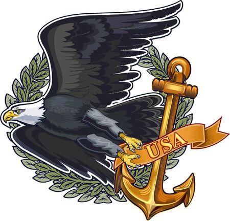 US Navy Eagle Ilustrace
