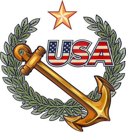 Ancla de la marina de los EEUU Foto de archivo - 82970498